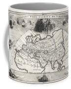1700 Cellarius Map Of Asia Europe And Africa According To Strabo Coffee Mug