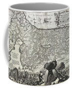 1702 Visscher Stoopendaal Map Of Israel Coffee Mug