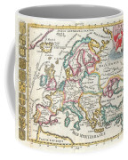 1706 De La Feuille Map Of Europe Coffee Mug