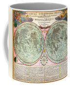 1707 Homann And Doppelmayr Map Of The Moon Geographicus Tabulaselenographicamoon Doppelmayr 1707 Coffee Mug