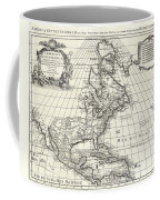 1708 De Lisle Map Of North America Coffee Mug