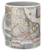 1710 De La Feuille Map Of The Netherlands Belgium And Luxembourg  Coffee Mug