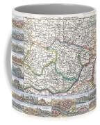 1710 De La Feuille Map Of Transylvania  Moldova Coffee Mug