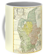 1710 Homann Map Of Denmark Coffee Mug
