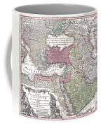1730 Seutter Map Of Turkey Ottoman Empire Persia And Arabia Coffee Mug