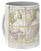 1737 Homann Heirs Map Of New England Georgia And Carolina And Virginia And Maryland Coffee Mug