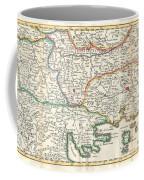 1738 Ratelband Map Of The Balkans Coffee Mug