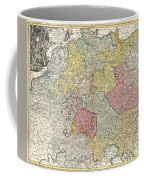 1740 Homann Map Of The Holy Roman Empire Coffee Mug