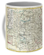 1740 Zatta Map Of Central France And The Vicinity Of Paris  Coffee Mug