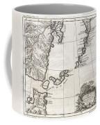 1750 Bellin Map Of The Kuril Islands Coffee Mug