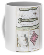 1750 Bellin Map Of The Senegal Coffee Mug