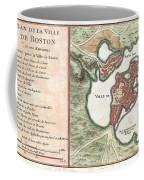 1756 Bellin Map Of Boston Massachusetts Coffee Mug