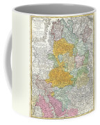 1761 Homann Heirs Map Of Westphalia  Coffee Mug