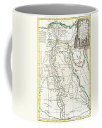 1762 Bonne Map Of Egypt  Coffee Mug