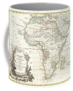 1762 Janvier Map Of Africa Coffee Mug