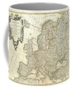 1762 Janvier Map Of Europe  Coffee Mug
