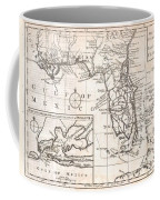 1763 Gibson Map Of East And West Florida Coffee Mug by Paul Fearn