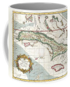 1763 Terreni  Coltellini Map Of Cuba And Jamaica Coffee Mug