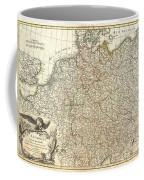 1771 Rizzi Zannoni Map Of Germany And Poland Coffee Mug