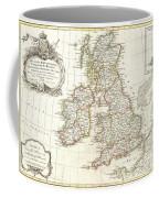 1771 Zannoni Map Of The British Isles  Coffee Mug