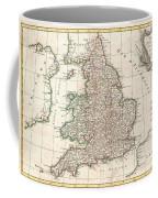 1772 Bonne Map Of England And Wales  Coffee Mug