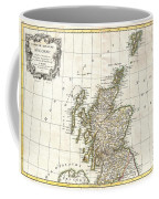 1772 Bonne Map Of Scotland  Coffee Mug