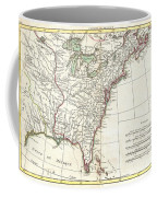 1776 Bonne Map Of Louisiana And The British Colonies In North America Coffee Mug