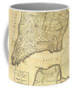 1776 New York City Map Coffee Mug