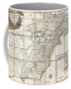 1779 Phelippeaux Case Map Of The United States During The Revolutionary War Coffee Mug