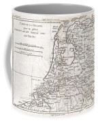 1780 Raynal And Bonne Map Of Holland And Belgium Coffee Mug
