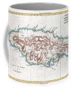 1780 Raynal And Bonne Map Of Jamaica West Indies Coffee Mug
