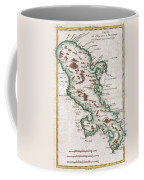 1780 Raynal And Bonne Map Of Martinique West Indies Coffee Mug