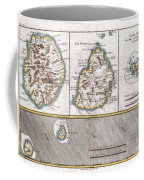 1780 Raynal And Bonne Map Of Mascarene Islands Reunion Mauritius Bourbon Coffee Mug