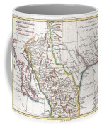 1780 Raynal And Bonne Map Of Mexico And Texas  Coffee Mug