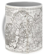 1780 Raynal And Bonne Map Of Northern Europe And European Russia Coffee Mug