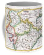 1780 Raynal And Bonne Map Of Northern India Coffee Mug