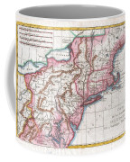 1780 Raynal And Bonne Map Of Northern United States Coffee Mug