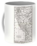 1780 Raynal And Bonne Map Of Peru Coffee Mug