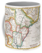 1780 Raynal And Bonne Map Of Southern Brazil Northern Argentina Uruguay And Paraguay Coffee Mug
