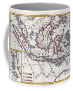 1780 Raynal And Bonne Map Of The East Indies Singapore Java Sumatra Borneo Coffee Mug