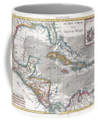 1780 Raynal And Bonne Map Of The West Indies Caribbean And Gulf Of Mexico Coffee Mug