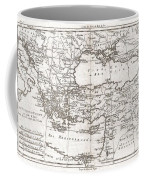 1780 Raynal And Bonne Map Of Turkey In Europe And Asia Coffee Mug