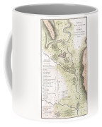 1783 Bocage Map Of The Topography Of Sparta Ancient Greece And Environs Coffee Mug