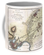 1784 Bocage Map Of The City Of Athens In Ancient Greece Coffee Mug