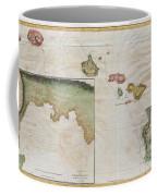 1785 Cook  Bligh Map Of Hawaii  Coffee Mug