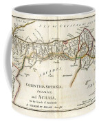 1786 Bocage Map Of Corinthia Sicyonia And Achaia In Ancient Greece Coffee Mug