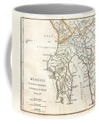 1786 Bocage Map Of Messenia In Ancient Greece Coffee Mug