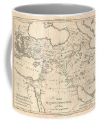 1787 Bonne Map Of The Dispersal Of The Sons Of Noah Coffee Mug