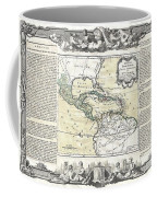 1788 Brion De La Tour Map Of Mexico Central America And The West Indies Coffee Mug
