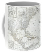 1788 Schraembl  Pownall Map Of North America And The West Indies Coffee Mug